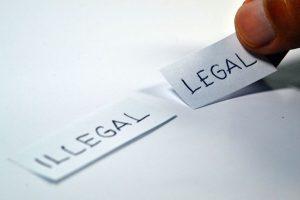 illegal, legal