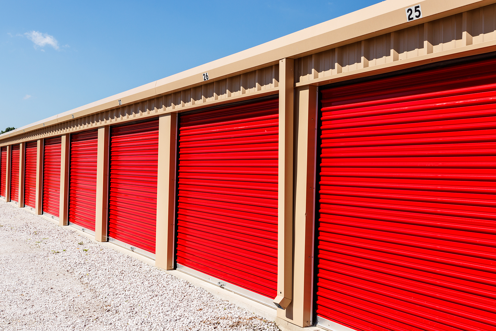 Numbered mini storage in Wyong